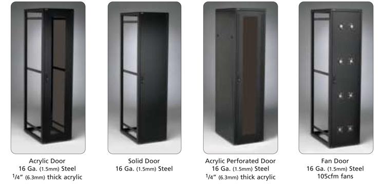 46u 42 Quot Deep Server Rack Cabinet With Front Rear Doors