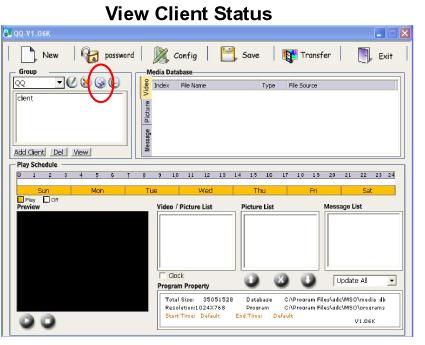 View Client Status