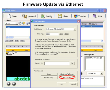 Firmware Update Via Ethernet