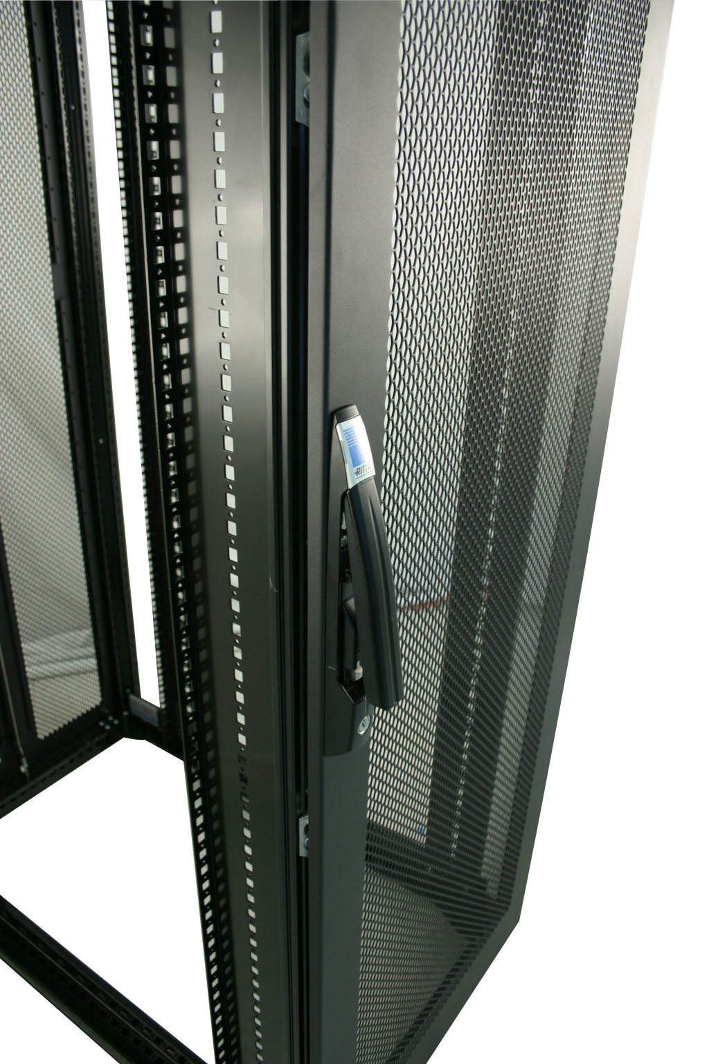 server view computer glass cabinet network tempered door clipped deep floor standing rev black rack data with front lock