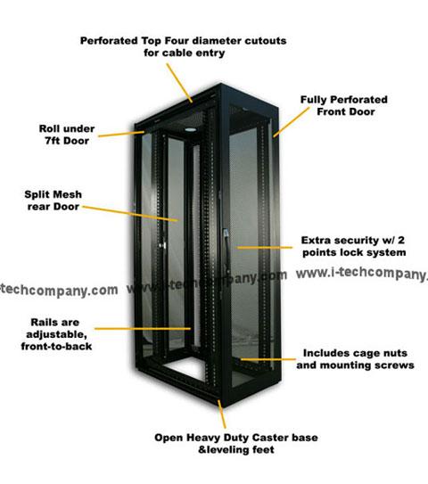 42U 80 H X 24 W X 32 D Server Rack Cabinet Enclosures Midel