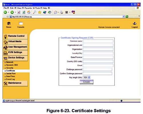 Certificate Setting