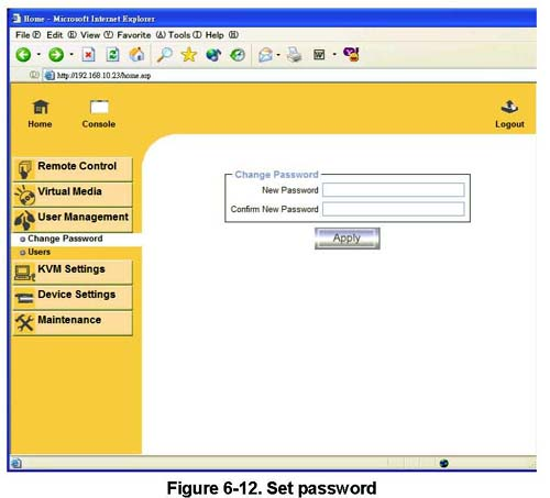 Setup Password